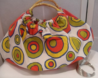 Market Bag with Bamboo Handles
