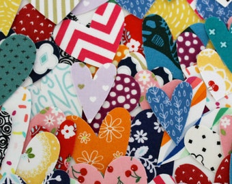 Rainbow Handmade Fabric Heart Stickers/ Washi Tape/ Planner Accessories/ Gift Wrapping/ Packaging/ Planner Supplies/ Crafts/