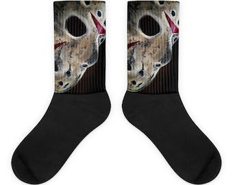 Jason Mask Friday The 13th Socks