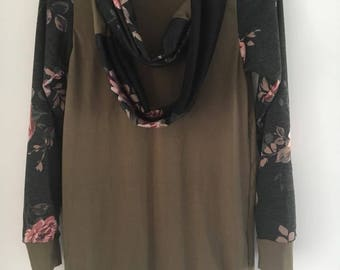 Tunic for woman with scarf small