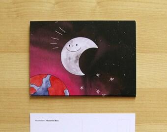 POSTCARD The Moon