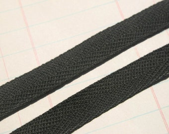 "Twill Tape Trim BLACK - 1/2"" - Sewing Crafting Bunting Banners - 6 Yards"