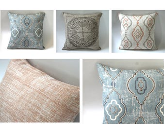 Barkcloth Collection // Sofa Throw Pillows // Toss Pillows // Sofa Pillow Covers // Throw Pillow Cases