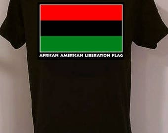 Liberation Flag  African American t-shirts