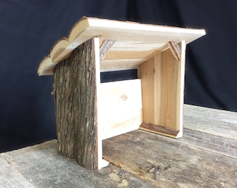 Tall Nativity Stable, Rustic Nativity Creche, Manger
