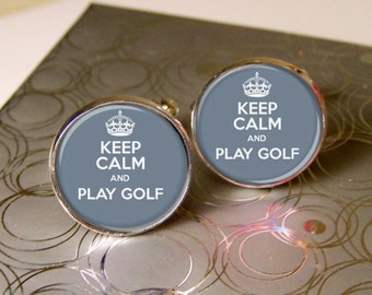 Mens Cufflinks, Golf Cufflinks, Gift For Golfer