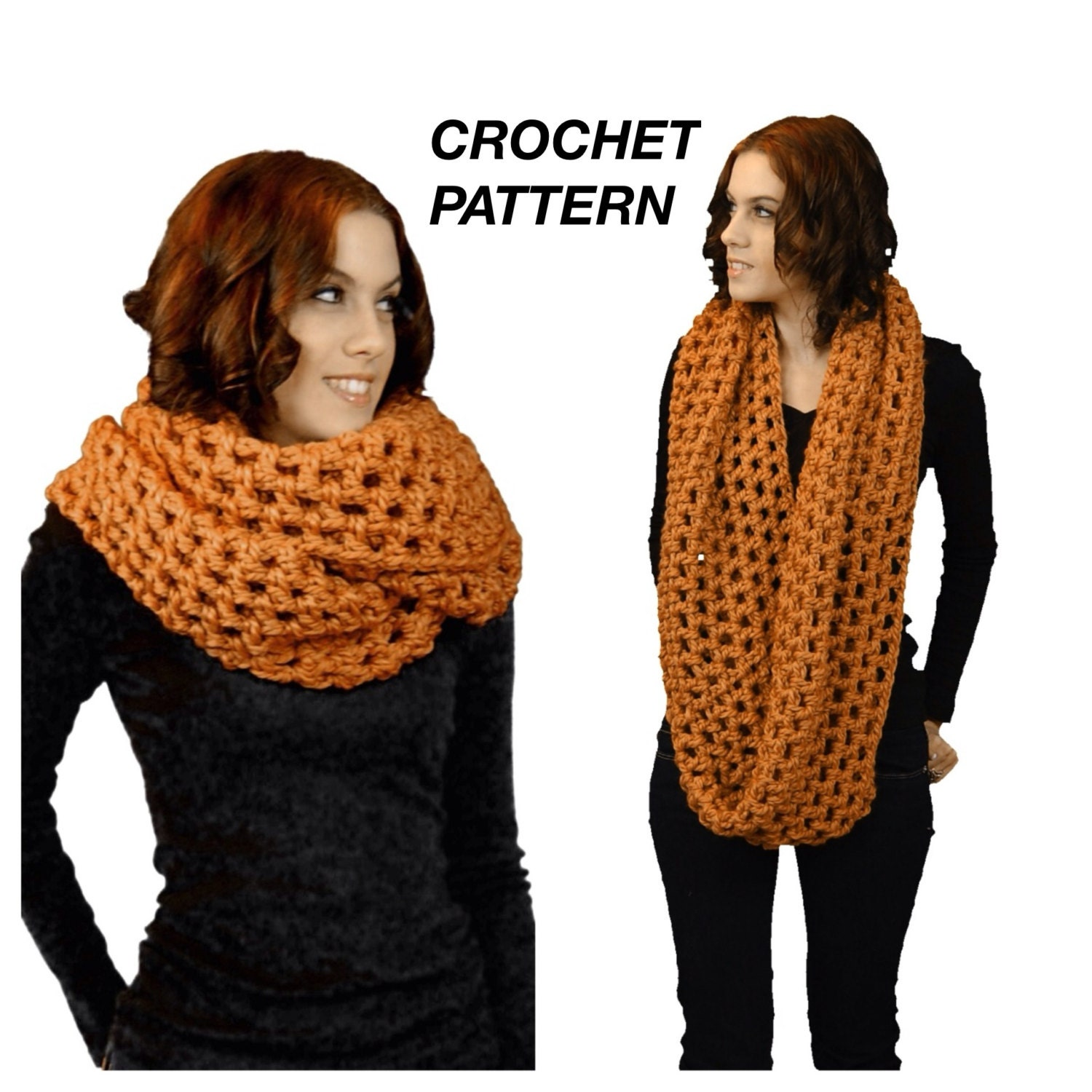 The Chunky Oversized Infinity Scarf Crochet Pattern, PDF Download ...