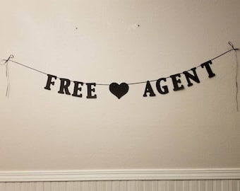Free Agent party banner