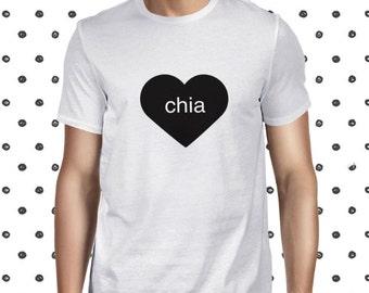 Chia Seed T-shirt for Men - Funny Chia Pudding T Shirt - Vegan Statement Men's Tshirt - Men's Casual Tee Shirt - Plant-based T Shirt for Men
