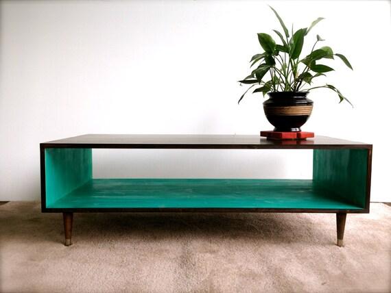 FREE SHIPPING Handmade Coffee Table Mid Century Modern - Mod century modern coffee table