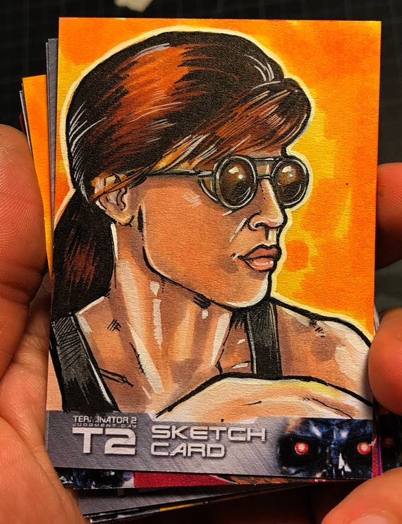 T2: 25th Anniversary Terminator 2 Sarah Connor Artist Sketch Card
