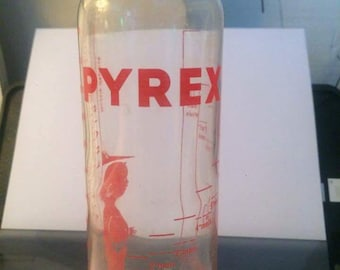 Pyrex glass bottle with graduations