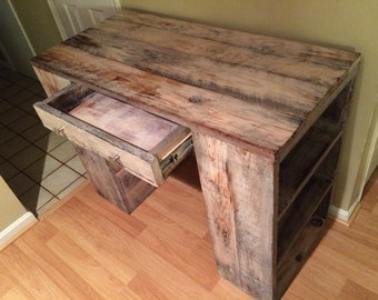 Whitewash Desk / Buffet / Side / Kitchen Prep Table