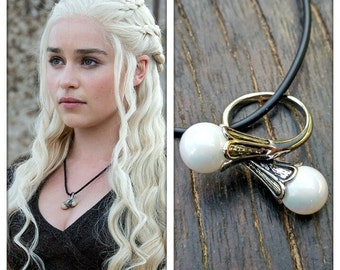 Daenerys Ring, Game of Thrones jewelery, ring Khaleesi necklace, Mother of dragons, Daenerys costume cosplay, Pearls ring.