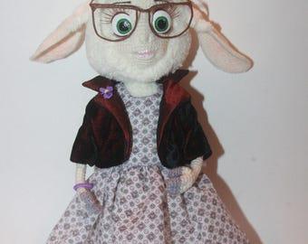 Miss Barashkis. Cartoon Zootopia - crochet toy, stuffed animal, funny home decor, handmade toys, cartoon character, zootopia, crochet sheep