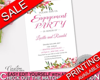 Engagement Party Invitation Bridal Shower Engagement Party Invitation Spring Flowers Bridal Shower Engagement Party Invitation Bridal UY5IG
