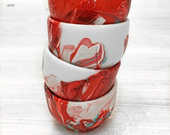 Coral Inspired, Modern Ceramic Mini Bowls