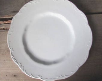 Vintage White Ironstone Plates Sterling Colonial Meakin