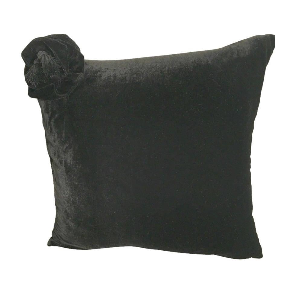 Black Velvet Pillow Cover Flower Pillow Black Pillow Covers