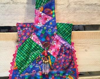 Crazy quilt hand bag, crazy quilt purse, purse, handbag, unique purse, unique handbag, crazy quilt