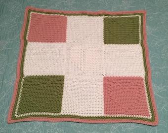 Bobble Heart Baby Blanket