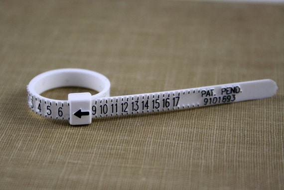 Adjustable, Reusable Plastic Ring Sizer - Find your ring size- Jewelry Supply
