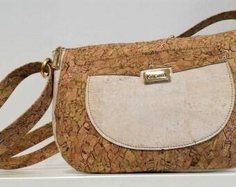 Natural Cork Purse - Fine Cork Bag - Women Cork Handbag - Eco-friendly Shoulder Bag - Gift for Her