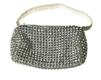Antique Art Deco Rhinestone Evening Bag (as is)