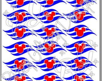 Cruise Ship Logo Wave