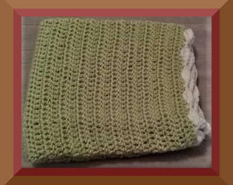 Crochet Baby Stroller Blanket, New Baby Gift Handmade READY TO SHIP