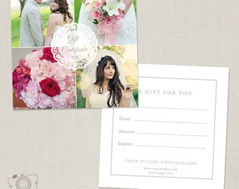 Photography Gift Certificate Template 007 - C173, INSTANT DOWNLOAD