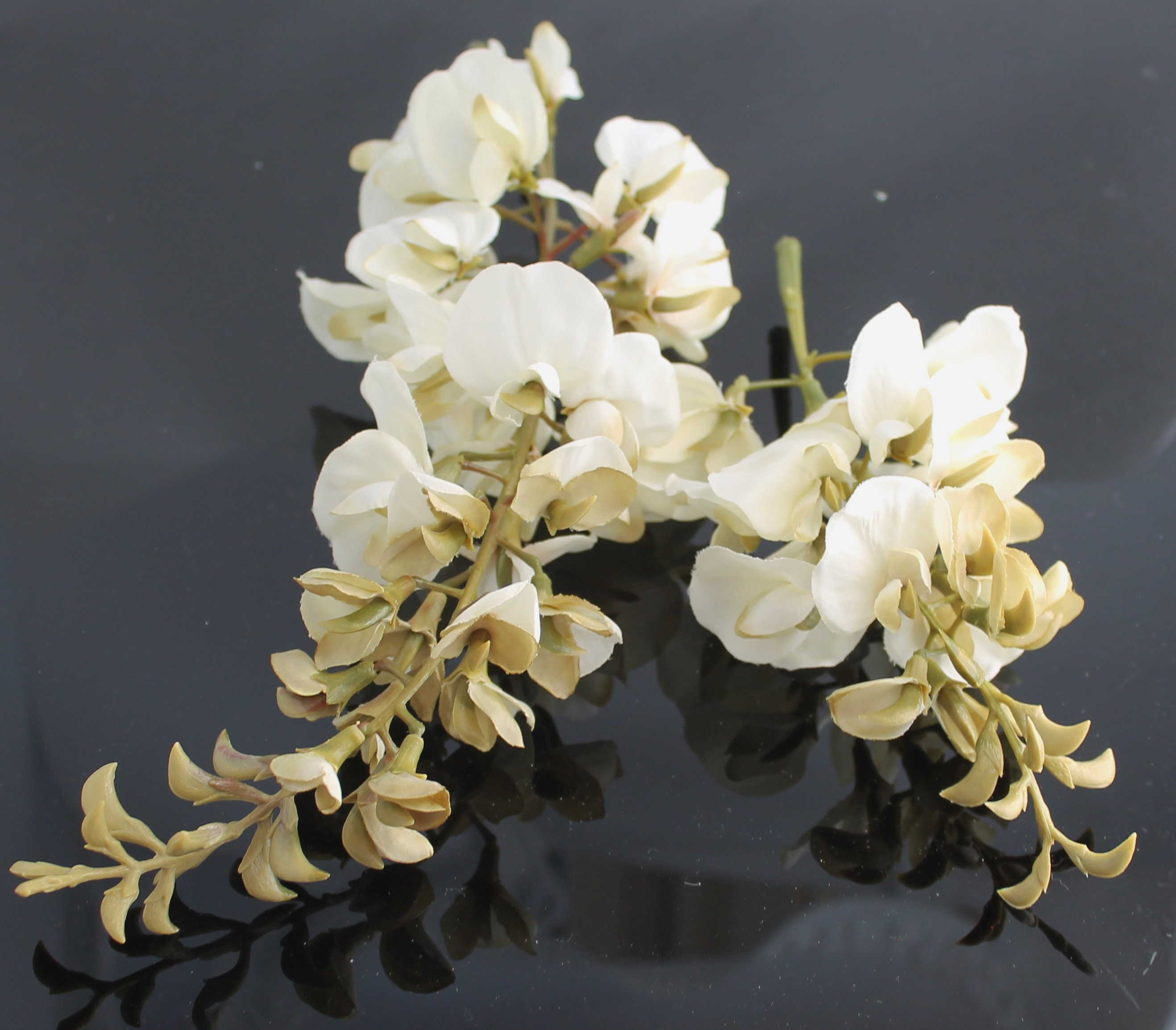White Wisteria Artificial Wisteria Wedding Bouquet