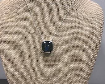 Labradorite Sterling Silver Necklace, Labradorite Necklace, Labradorite Pendant, Sterling Silver Labradorite Jewelry