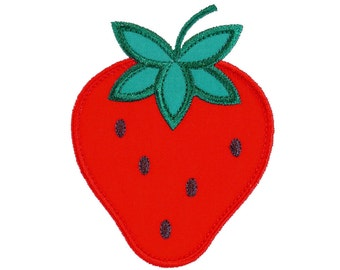 """Strawberry Appliques Machine Embroidery Designs Applique Patterns in 4 sizes 3"""", 4"""", 5"""" and 6"""""""