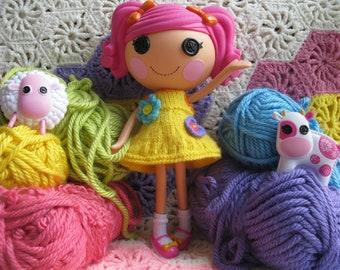 Knitting Pattern for Lalaloopsy Doll Clothes Dress PDF Instant Download