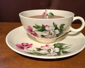 Earl Grey Tea Teacup Candle and Saucer