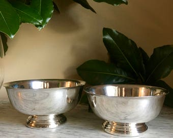 Vintage Set of Silver Paul Revere Style Footed Bowls