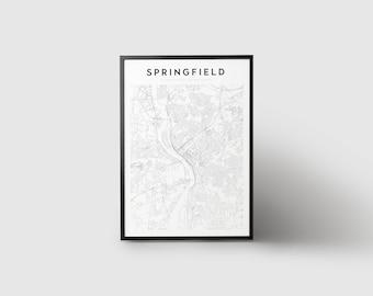 Springfield Map Print