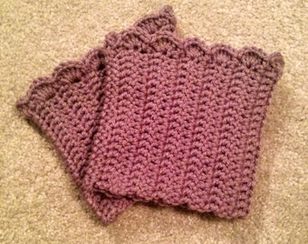 Scalloped edge ribbed boot cuffs- made to order