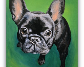 6x6 size canvas custom pet painting size 6x6 canvas sample
