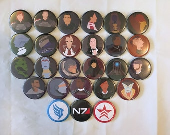 Mass Effect Minimalist Buttons