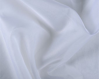 White Silk Organza, Fabric By The Yard