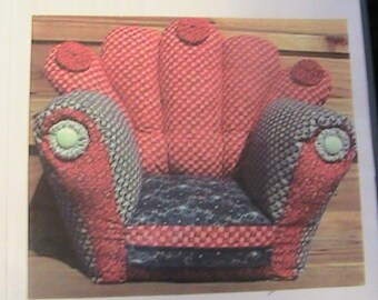 REALLY NiCE ChAIR~12x12x8~Barb & Doug Keeling~1990's PDF DoWNLOADABLE Magnificent whimsical cloth art doll + other dolls~chair pattern