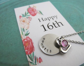 Sweet 16 necklace etsy bookmarktalkfo Images