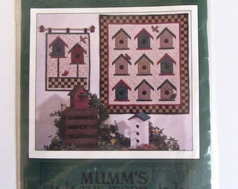 For The Birds Quilt Pattern Wall Hanging Mumm's The Word