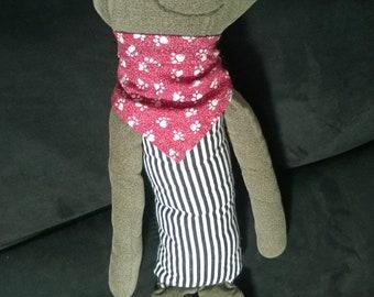 Eye-Sock-It Handmade Plush Doll