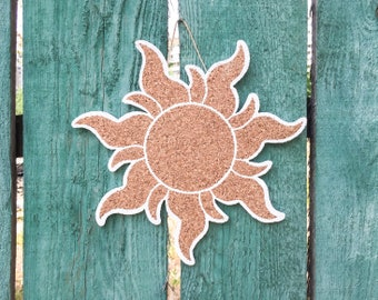 RAPUNZEL SUN shaped cork board, Tangled Golden Sun Disney pin display board notice message photos small large corkboard home decor pinboard