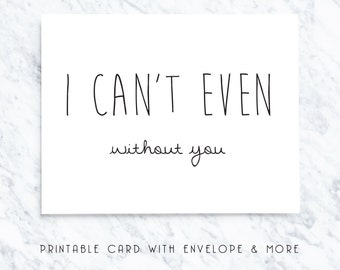 bridal party card, printable bridal card, i cant even card, digital bridal card, without you card, will you be my card