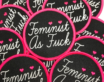 Feminist As F**k Iron On Patch