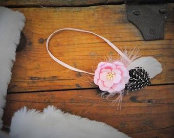 Flower Feather Headbands Headband